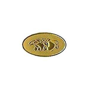 gold wedding bells embossed stickers 63ct