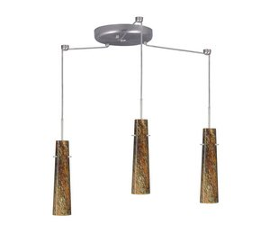 Besa Lighting 3BC-5674CE-HAL Camino 3 Light Halogen Cord-Hung Pendant with Ceylo  ems free shipping fashion pendant light rustic lighting wrought iron pendant light brief lamps pendant lamp