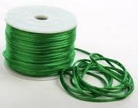 50 Yards - 2mm Emerald Green Satin Rattail Cord Chinese/china Knot Rat Tail Jewelry Braid 100% Polyester