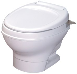 Thetford 31676 Aqua Magic V Parchment High Hand Flush with Water Saver