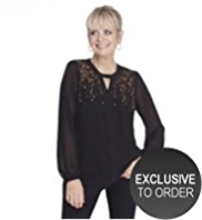 Twiggy for M&S Collection Bead & Sequin Embellished Blouse with Camisole