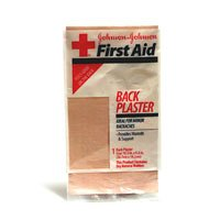 Johnson & Johnson First Aid Back Plaster (10.5 x 5.6-Inch), 1-Sheet Packages (Pack of 12)