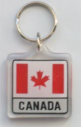 Canada - Country Lucite Key Rings