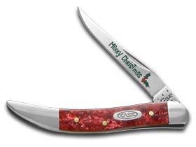Case XX Knife 52407 RED Sparkle Christmas KiriniteTMTiny Toothpick