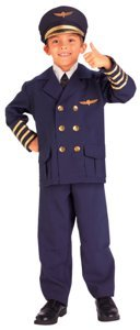 Airline Pilot Child Costume Size Medium (8-10)