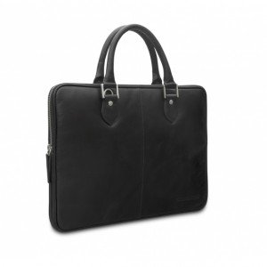 "dbramante1928 Handles Lite Sacoche en cuir pour Ordinateur Portable/MacBook 13"" Hunter Dark"