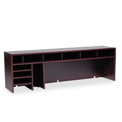 Safco Products 58-Inch W High Clearance Desk Top Organizer, Mahogany (3661MH)
