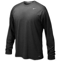 Nike 384408 Legend Dri-Fit Long Sleeve Tee - Black, Medium