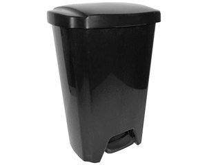 13-gallon Trash Can Lid Waste Garbage Step on Hands Free Sturdy. Outdoor Kitchen Garage Home Office Black Cheap (Hefty Garbage Can compare prices)