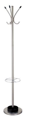 Adesso WK2058-22 Umbrella Stand and Coat Rack, Steel