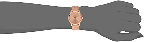 GUESS Women's U0532L3 Diamond-Accented Rose Gold-Tone