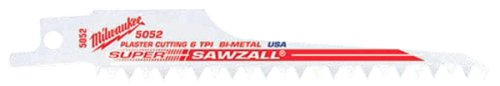 "Milwaukee 48-00-5052 5"" X 6Tpi Bi-Metal Super Sawzall Blade 5-Pack"