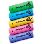 Integral USB Splash Drive, USB 2.0,1Gb, Pink, Shock and Water Resistant, PC & MAC Compatible, 2 Year Warranty