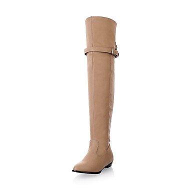 Y&T tacco basso combattere stivali alti al ginocchio delle donne (più colori) , black , us8.5 / eu39 / uk6.5 / cn40