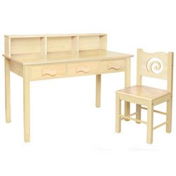 Buy Low Price Comfortable Natural Computer Desk & Chair Set (B00195YNSU)