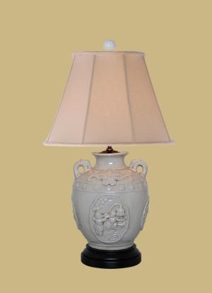 CELADON PORCELAIN URN JAR LAMP
