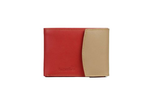 Butterflies-Womens-Wallet-Red-Beige-BNS-2044