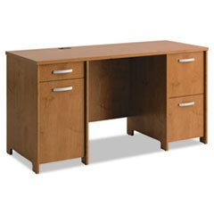 -- Envoy Double Pedestal Desk, 58w x 23-1/4d x 30-1/4h, Natural Cherry, Box 1 of 2