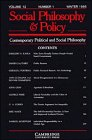 Contemporary Political and Social Philosophy: Volume 12, Part 1 (Social Philosophy and Policy) (v. 1) (0521483999) by Paul, Ellen Frankel