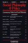 Contemporary Political and Social Philosophy: Volume 12, Part 1 (Social Philosophy and Policy) (v. 1) (0521483999) by Paul, Ellen Frankel