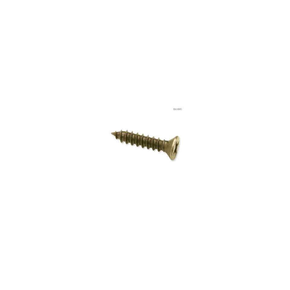 6 X 1/2 Flat Head Screw   Phillips Head   Antique Brass   (25 Pcs)