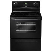 30 In. Smooth Top Freestanding Electric Range - Black (Flat Top Electric Range compare prices)