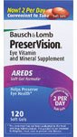 Bausch & Lomb Preservision AREDS Soft Gel Formula 120 Soft Gels