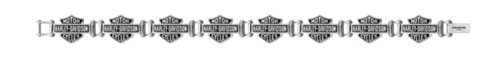 Harley-Davidson Men's Bar & Shield Logo Stainless Steel Bracelet HSB0012