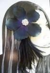 Fiore cheveux. accessori per capelli, per gioielli, per tutti i tagli e tutti i tipi di capelli e tuppo mariage. fiore nero lunga piume NOIRESET 33 cristalli SWAROVSKI, nel cuore della FLEUR. fissaggio A freddo e riposizionabile.