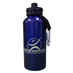 ActiveForever Sport Aluminum Water Bottle 20oz - Aluminum Water Bottle with ActiveForever logo - AB102