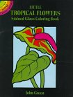 Little Tropical Flowers Stained Glass Coloring Book (Dover Stained Glass Coloring Book) (0486296296) by Green, John