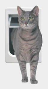 Perfect Pet Tubby Kat Cat Door with 4 Way Lock And LEXAN Flap