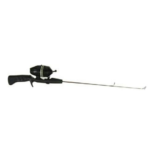 HT Enterprise Hardwater Spincast Ice Fishing Rod and Reel Combo with Kit