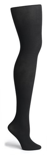 HUE Women's Super Opaque Control Top Tight, Black, Size 1