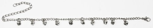 Womens Anklets & Ankle Chains, (ANK33910) Silver Coloured Anklet Chain-FREE SHIPPING