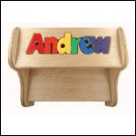 Step Lively Personalized Wooden Puzzle Name Step Stool