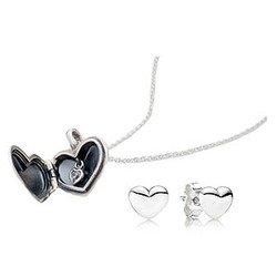 Pandora Usb791900 Love Locket Gift Set with Earrings