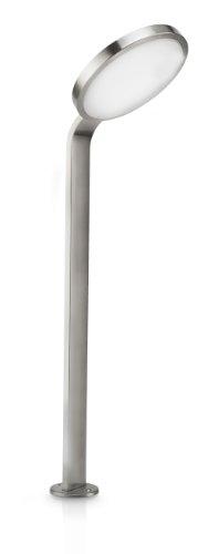 Philips Moon Lampione Palo LED da Esterno in Acciaio Inossidabile con Pannello Solare Separato Incluso