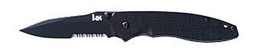 Benchmade Hk Knives Nitrous Blitz Tactical Folding Knife Combo With Bt2 Coated Edged Blade (Black, 8-Inch)