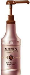Monin Gourmet SUGAR FREE Dark Chocolate Sauce, 64 oz