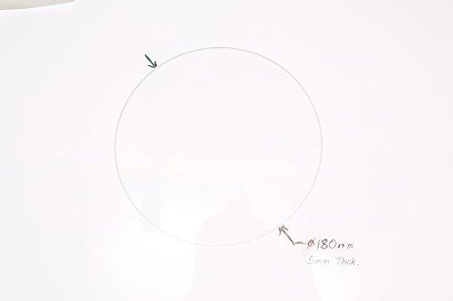 180mm Diameter x 5mm Thick Round Borosilicate Glass Plate