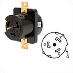 hubbell cs8369l locking receptacle, 50 amp, 3 phase 250v ... 3 phase 4 wire diagram 50a recepticle