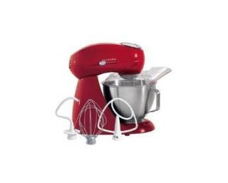 Hamilton Beach 63232 Eclectrics Carmine Red All-Metal Stand Mixer