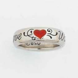 Love Waits w/Heart Purity Ring Size: Small (6)