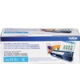 Brother TN315C Toner Cartridge for Brother Laser Printer Toner - Retail Packaging - Cyan