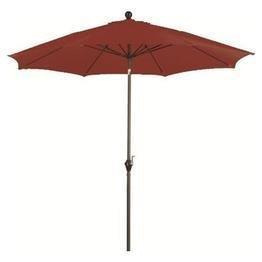 9 ft Wind Resistance Fiberglass Push Tilt Market Umbrella by California Umbrella (Polyester Brick)