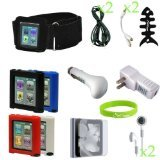 CrazyOnDigital Nano_6G_16items CrazyOnDigital 16-in-One Accessory Bundle for iPod nano 6G