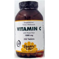 Country Life - Vitamin C 1000mg With Rosehips Time Release 250tab fine life for a country mouse
