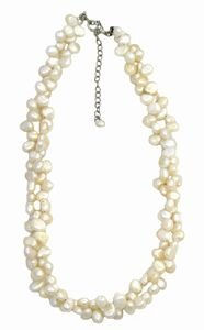 2 Strand White Freshwater Pearl Necklace 18