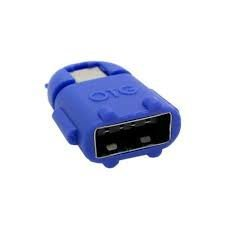 SNDIA Robot Shape OTG Adapter Micro USB OTG to USB 2.0 Adapter for Smartphones & Tablets (BLUE)